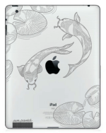 Artistic Koi drawing iPad engraving