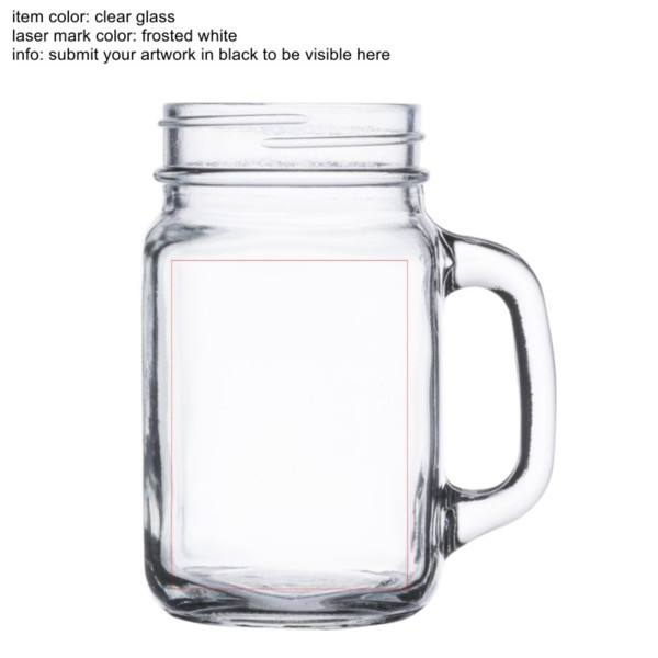 engraved mason jars with handle 16 oz in a flash laser
