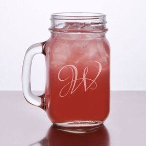 Engraved Mason Jars with Handle 16 oz Thumbnail
