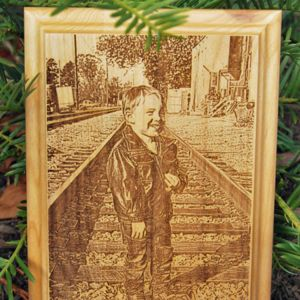 Custom Engraved Wooden Plaque - Portrait Thumbnail