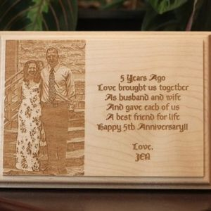 Custom Engraved Wooden Plaque - Landscape Thumbnail